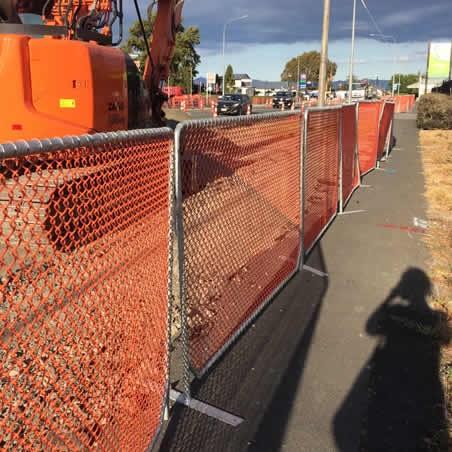 Orange Netting Barrier