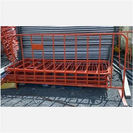 Orange Crowd Barriers