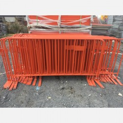 Orange Crowd Barriers